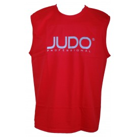 Sleeveless Judo Professional T-shirt Red