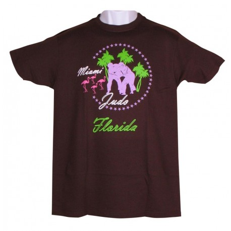 Miami Judo T-shirt Brown