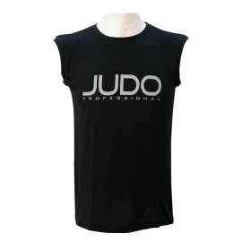 Sleeveless Judo Professional T-shirt Black