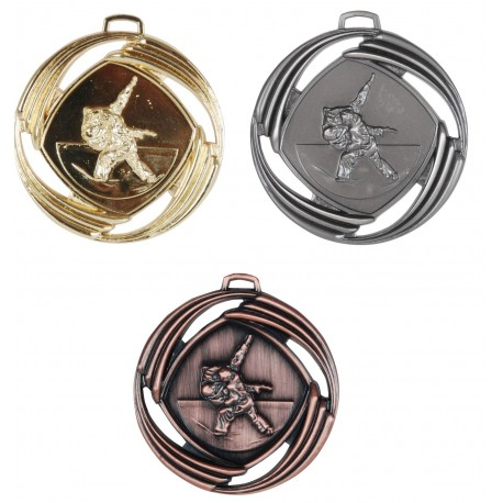 Mesh Embossed Judo Medals