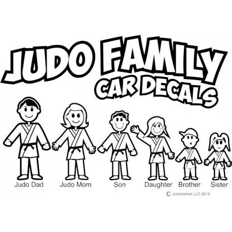 Judo Family Car Decals Black