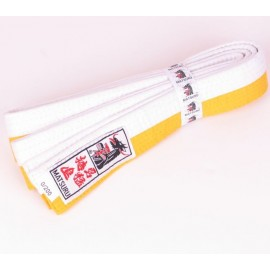 Judo Belt Duo Colored White/Yellow