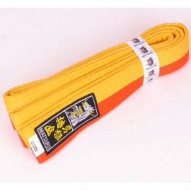 Judo Belt Duo Colored Yellow/Orange