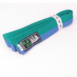 Judo Belt Duo Colored Green/Blue