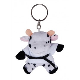 Cow in Judo Gi Keychain