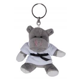 Hippo in Judo Gi Keychain