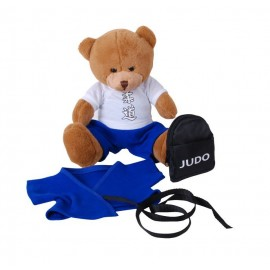 Teddy Bear in Blue Gi with Backpack