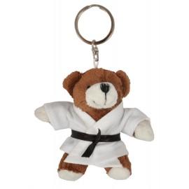 Brown Bear in Judo Gi Keychain