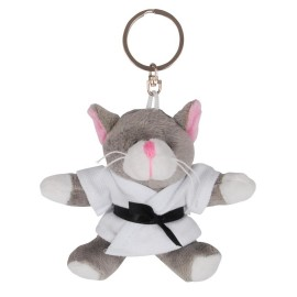 Cat in Judo Gi Keychain