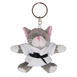 Cat in Judo Gi Keychain