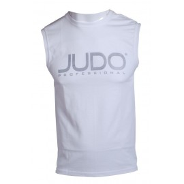 Sleeveless Judo Professional T-shirt White