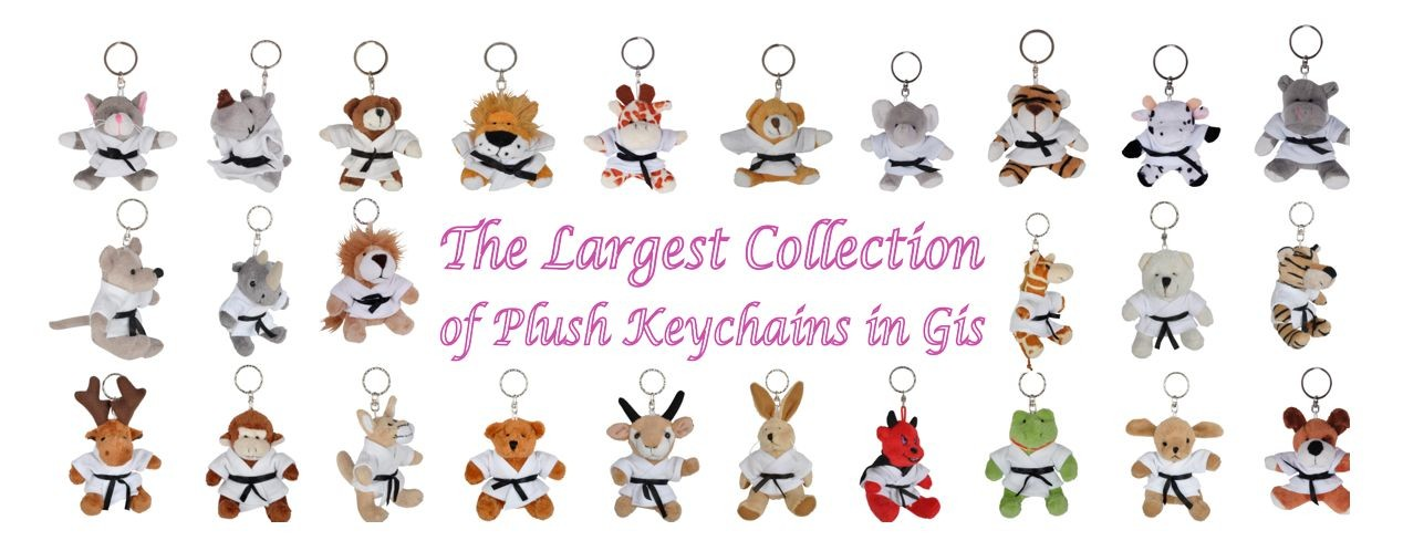 Plush Keychains Animals in Gis