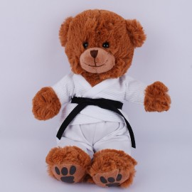 Furry Bear in White Gi