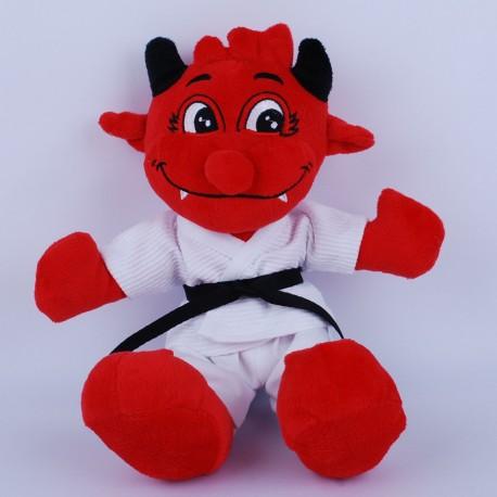 Red Devil in White Gi