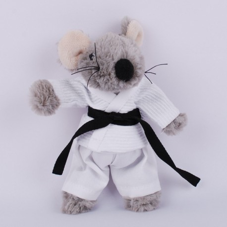 Mouse in judo Gi