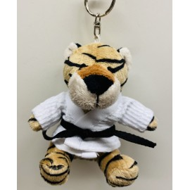 Tiger in Judo Gi Keychain