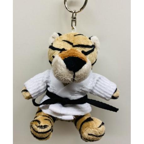 Tiger in Judo Gi Keychain