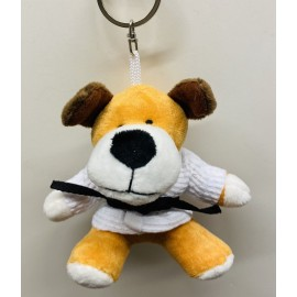 Dog in Judo Gi Keychain
