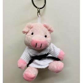 Pig in Judo Gi Keychain