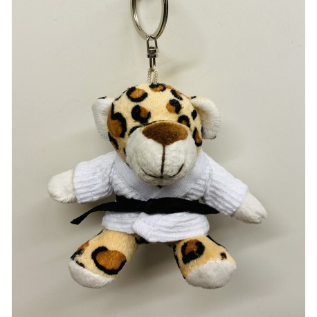 Panther in Judo Gi Keychain