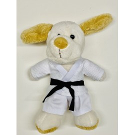 Puppy in judo Gi