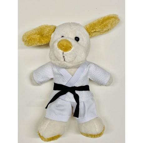 Puppy in judo Gi