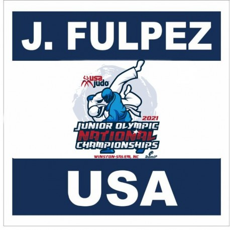 JUNIOR OLYMPICS CHAMPIONSHIPS OFFICIAL BACK NUMBER with your name