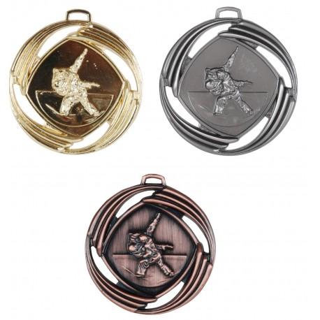 Mesh Embossed Judo Medals