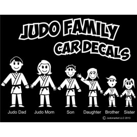 Judo Family Car Decals White