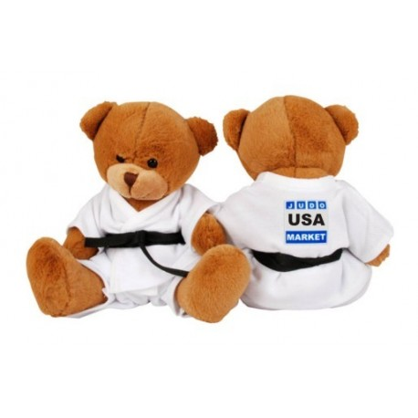 Teddy Bear in Judo Gi with backnumber
