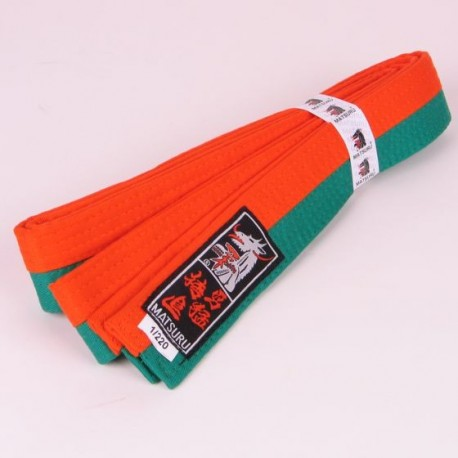Judo Belt Duo Colored Orange/Green