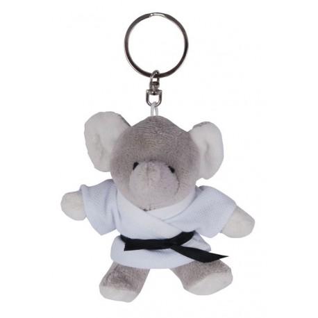 Elephant in Judo Gi Keychain
