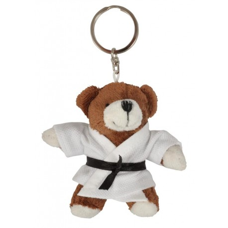 Brown Bear in Judo Gi Keychain