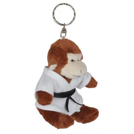 Monkey in Judo Gi Keychain