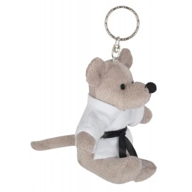 Mouse in Judo Gi Keychain