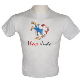 Kids Roosters Judo T-shirt White